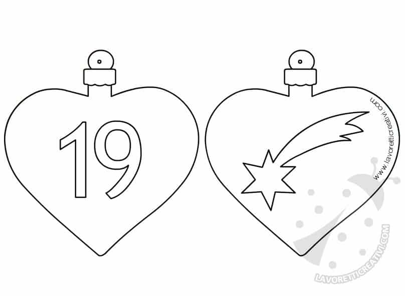 Calendario Avvento Palline 19 e 20