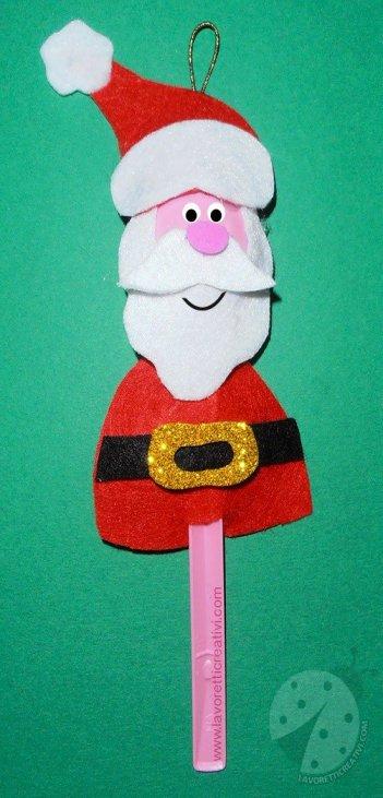 Lavoretti Di Natale Babbo Natale.Babbo Natale Con Cucchiaio Di Plastica Lavoretti Creativi