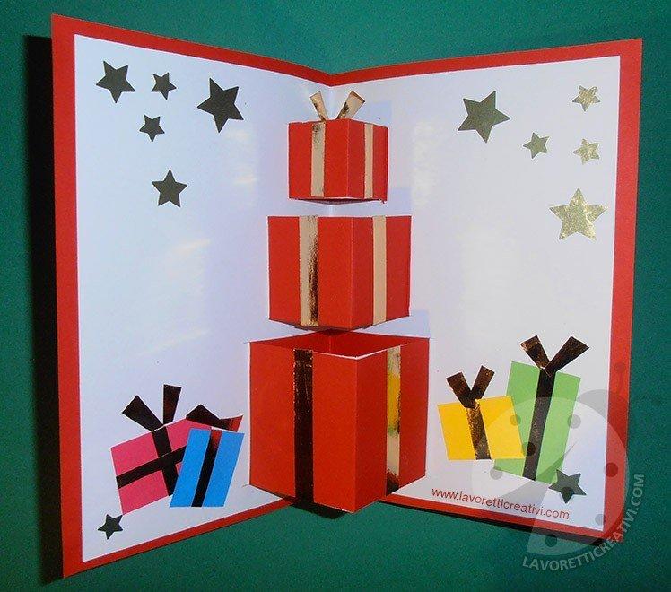 Lavoretti Biglietti Di Natale.Biglietto Pop Up Di Natale Per Bambini