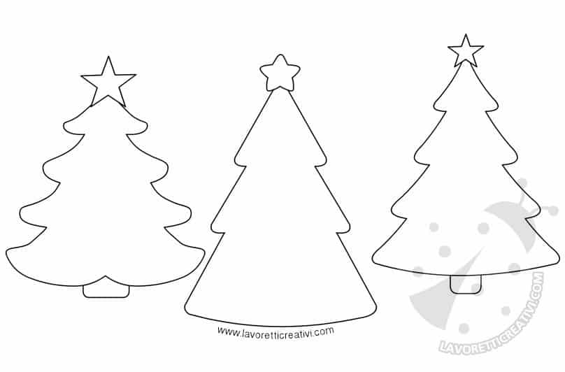 Cartamodelli Alberi Di Natale Da Stampare Lavoretti Creativi