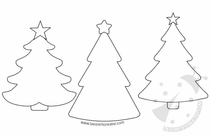 Cartamodelli alberi di Natale da stampare