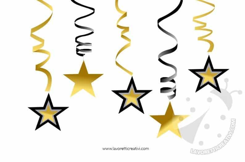 Decorazioni di Capodanno con stelle di carta