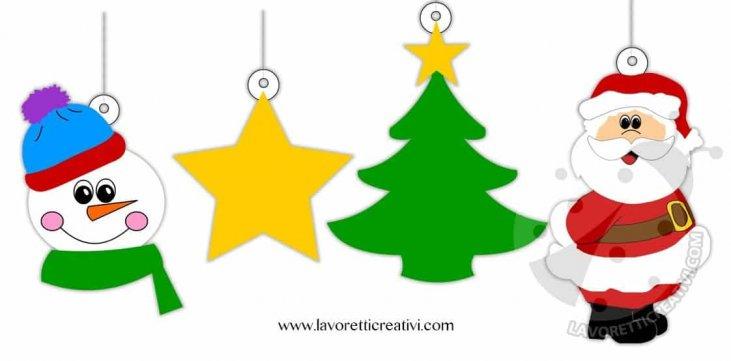 Disegni Di Natale Stampa E Colora.Addobbi Di Natale Da Stampare E Colorare Lavoretti Creativi