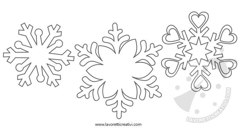 sagome fiocchi di neve