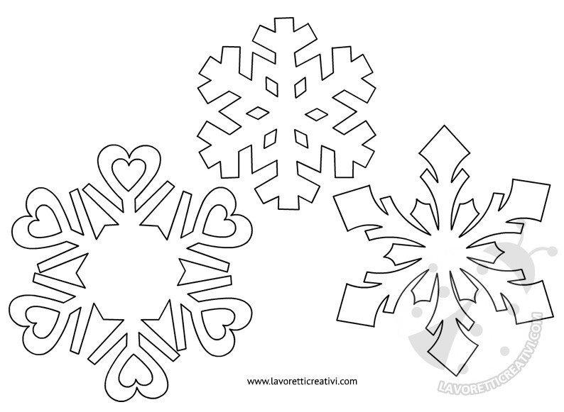 Modelli Fiocchi Di Neve Da Ritagliare Lavoretti Creativi