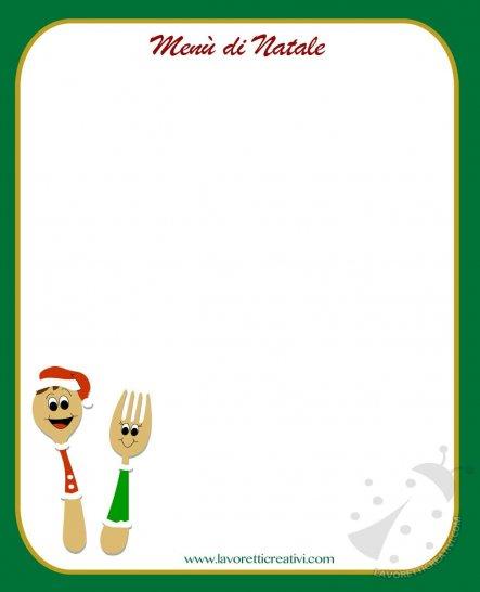 Modello Menu Di Natale Da Stampare.Modelli Di Menu Da Stampare Per La La Festa Di Natale