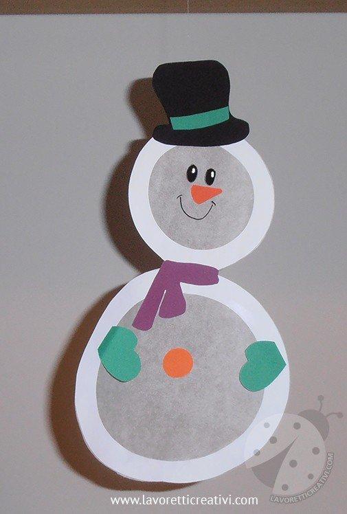 Decorazioni invernali per bambini con pupazzo di neve