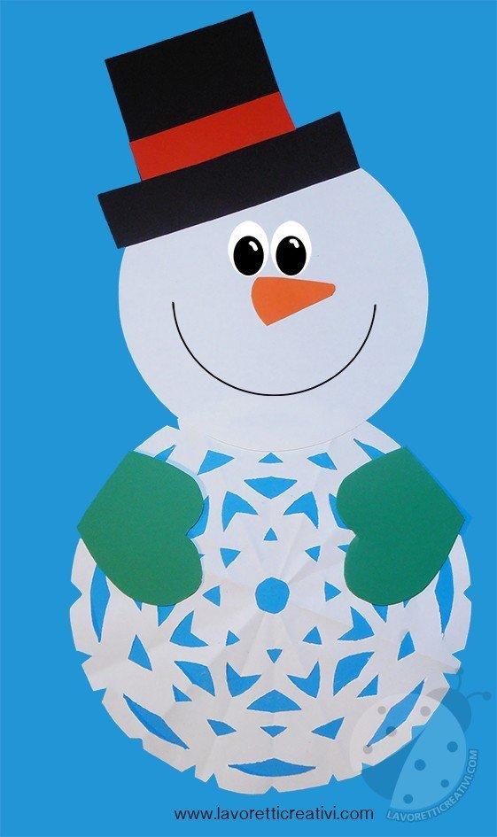 Pupazzo di neve realizzato con i cartoncini colorati. OLYMPUS DIGITAL CAMERA a45bb4025cb2