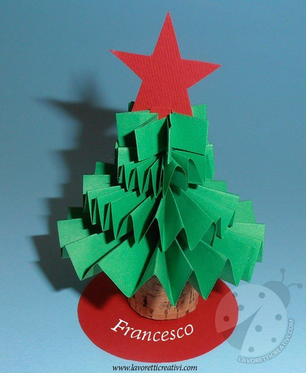 Alberelli natalizi segnaposto fai da te lavoretti creativi - Portacandele natalizi fai da te ...