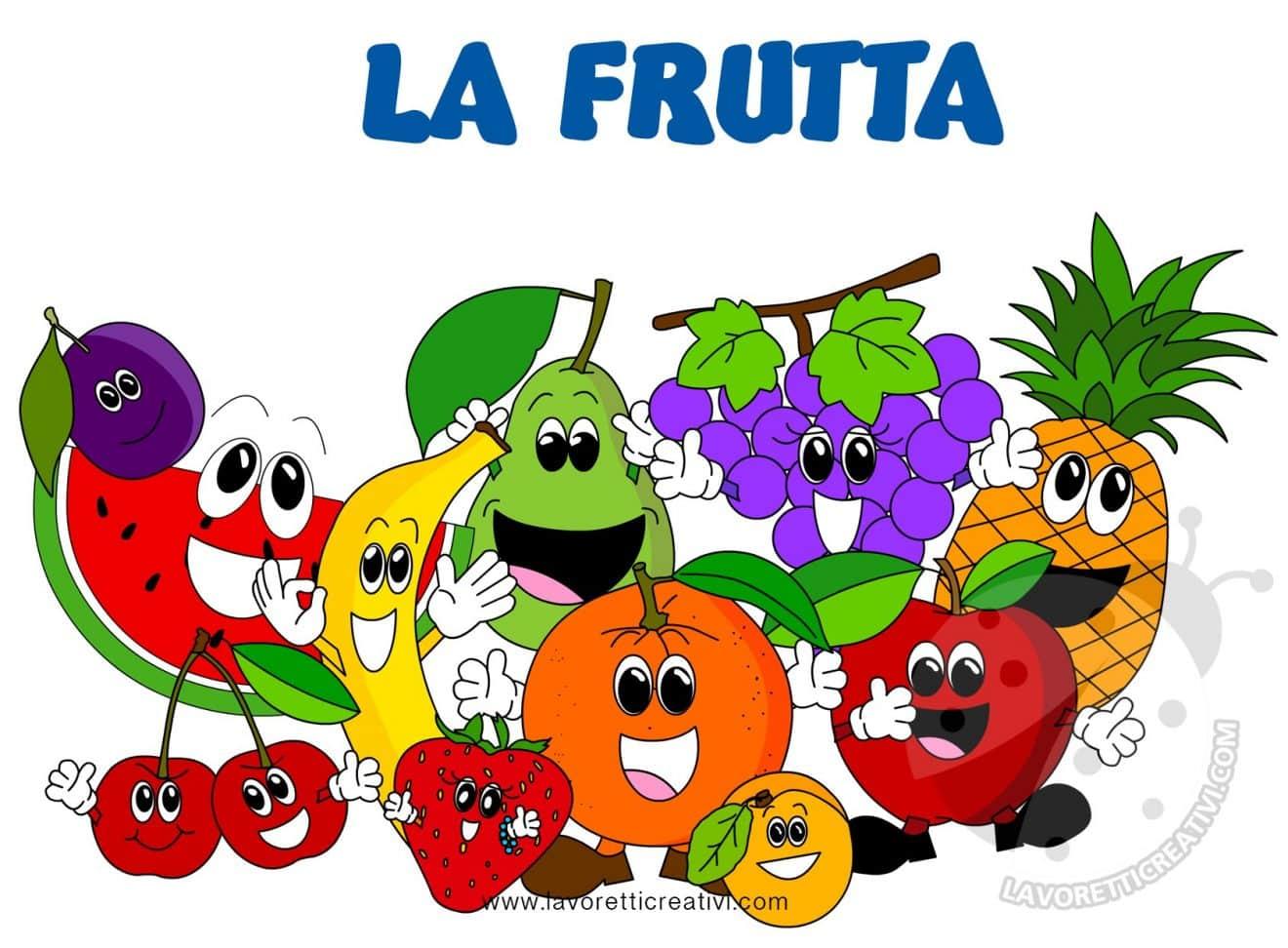 La Frutta Immagini per bambini da stampare