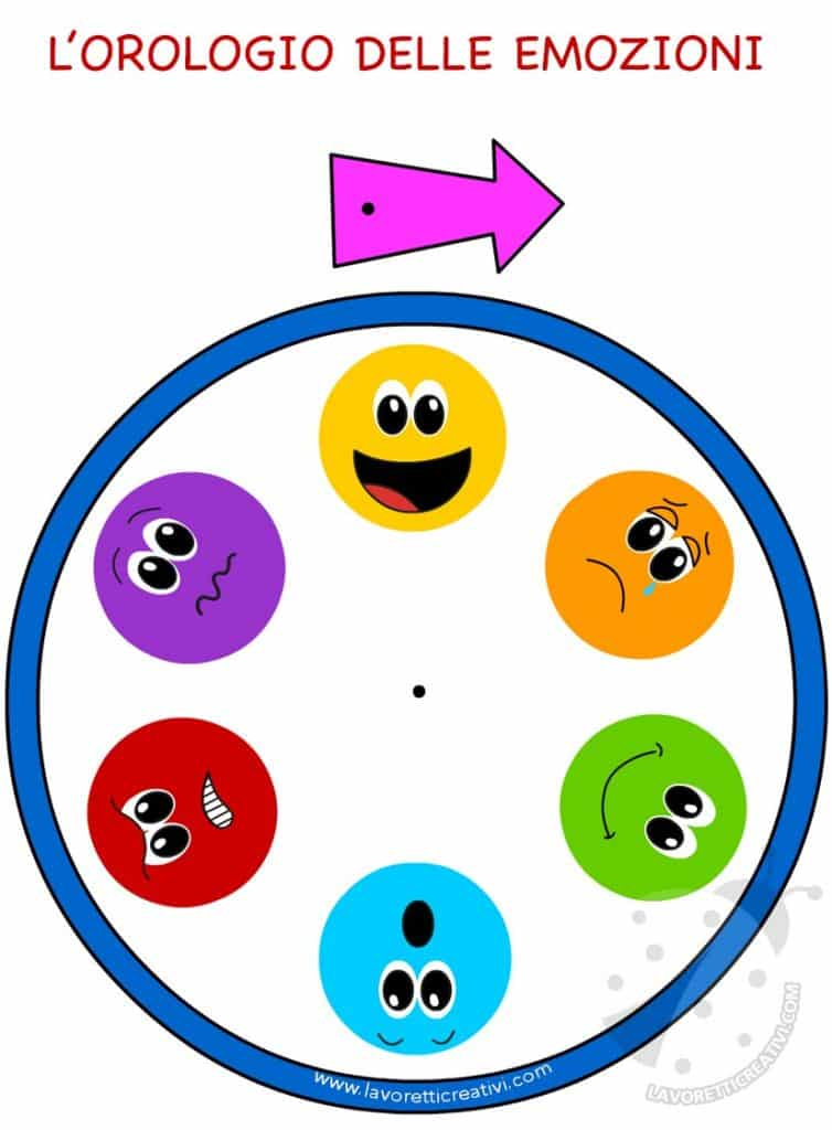 Orologio Delle Emozioni Per Bambini Lavoretti Creativi