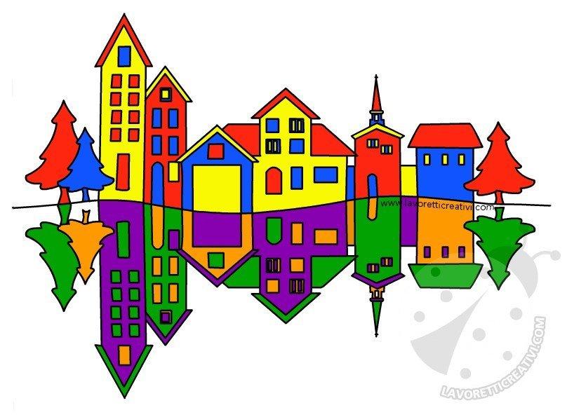 Paesaggio Con Colori Primari E Colori Secondari Lavoretti Creativi