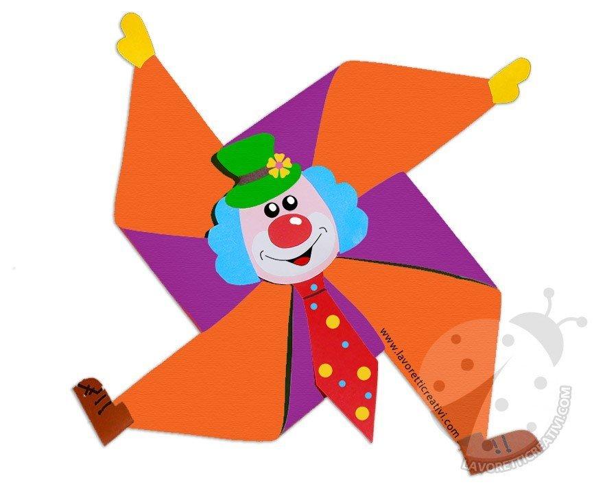 Lavoretti Carnevale Per Bambini Pagliaccio A Girandola Lavoretti