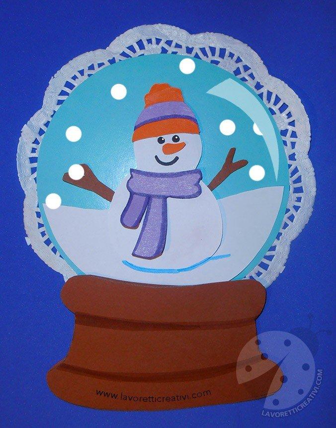 Sfera di vetro con pupazzo di neve