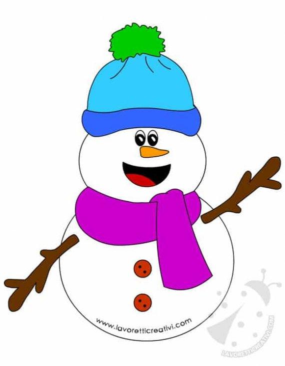 estetica di lusso colore attraente migliore vendita Immagine Pupazzo di neve con sciarpa e cappello - Lavoretti ...