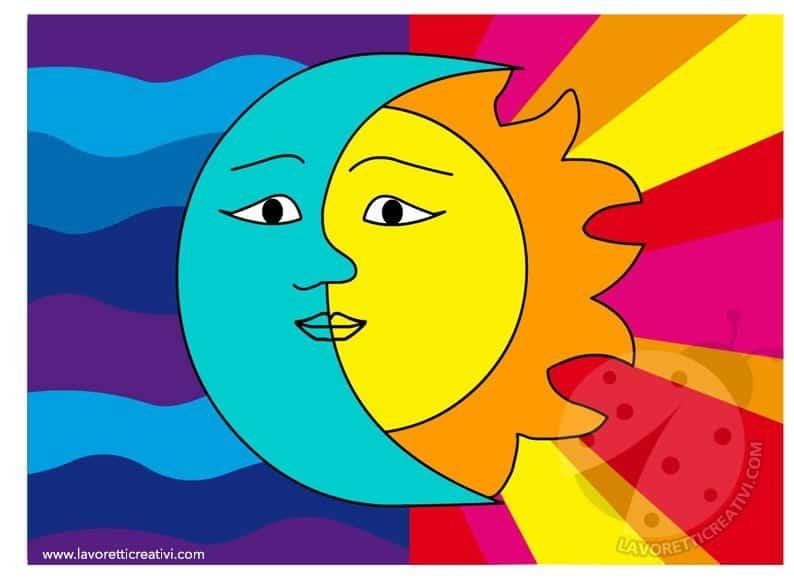 Attivit didattica colori caldi e colori freddi for Sole disegno da colorare