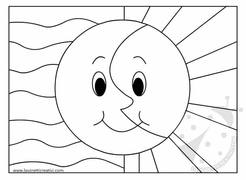 Attivit didattica colori caldi e colori freddi for Immagini sole da colorare