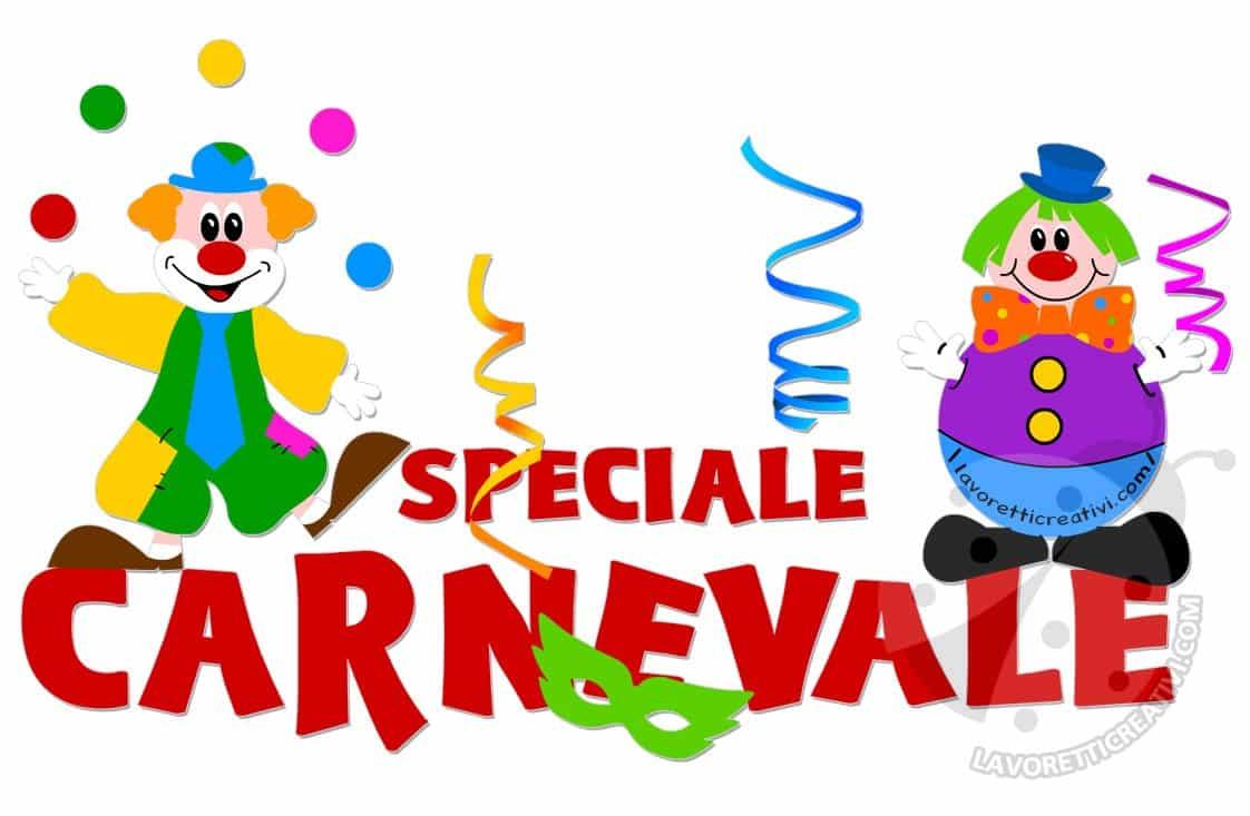 Speciale Carnevale addobbi e lavoretti per bambini