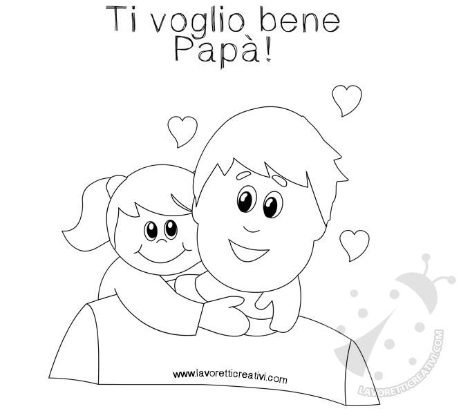 Disegni Da Colorare Compleanno Papa.Biglietti Per La Festa Del Papa Da Colorare Lavoretti Creativi