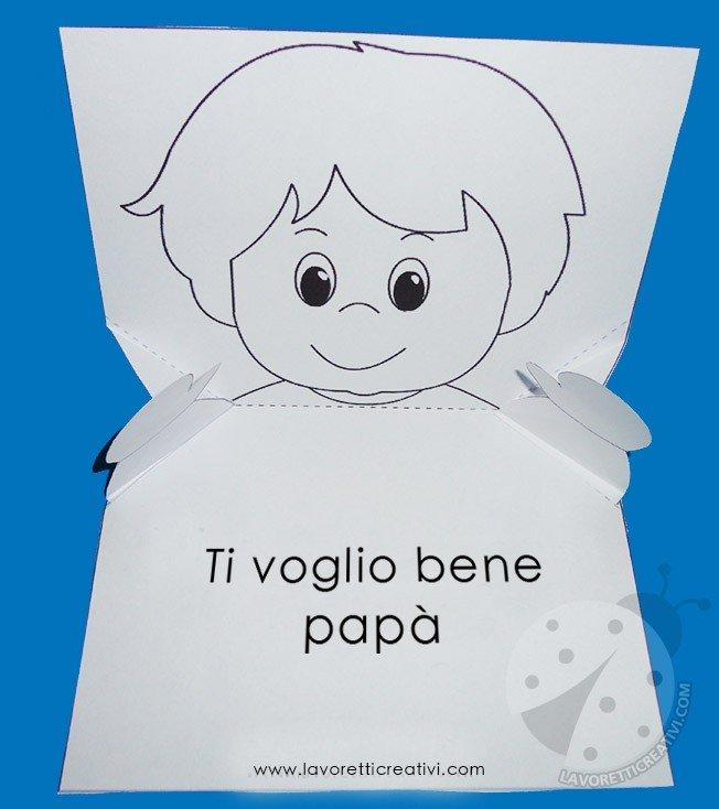 Biglietto pop up per la Festa del Papà con bambino