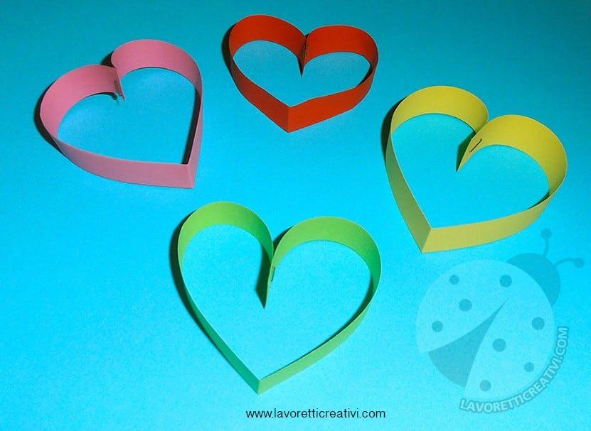 Cuori di carta per addobbi San Valentino