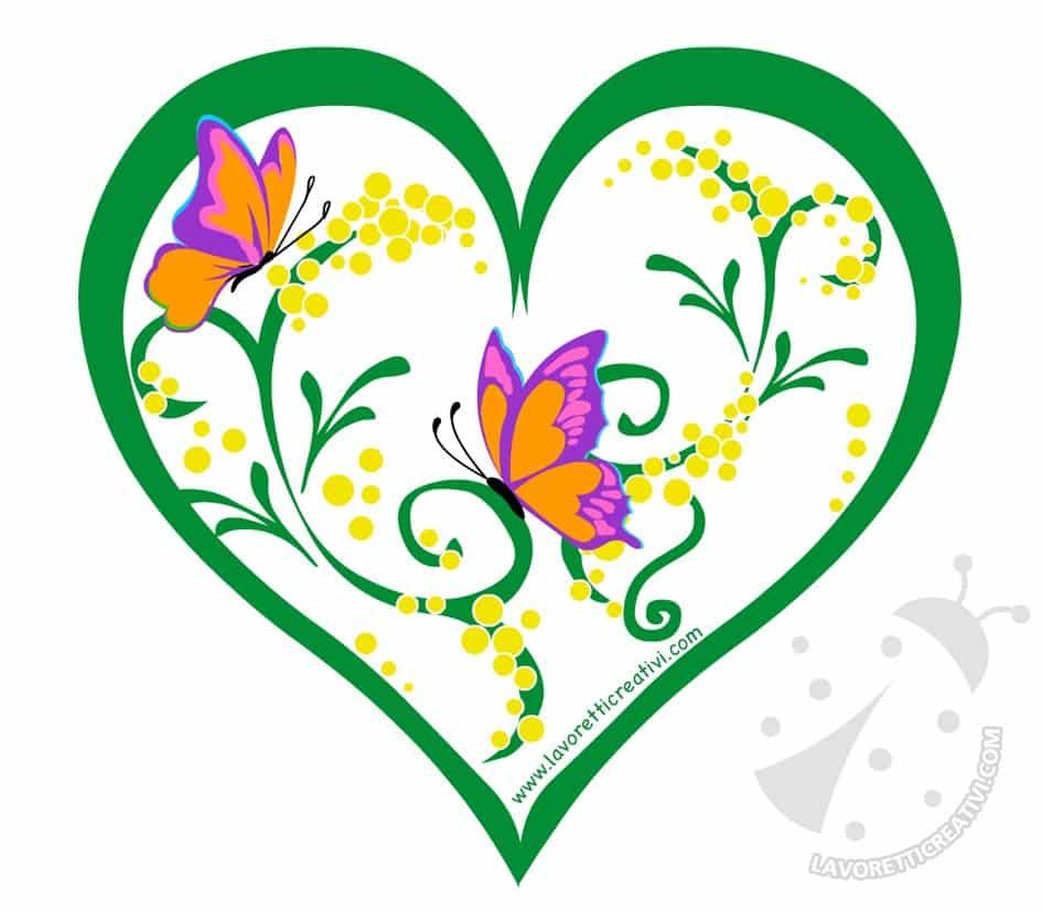 cuore con mimose