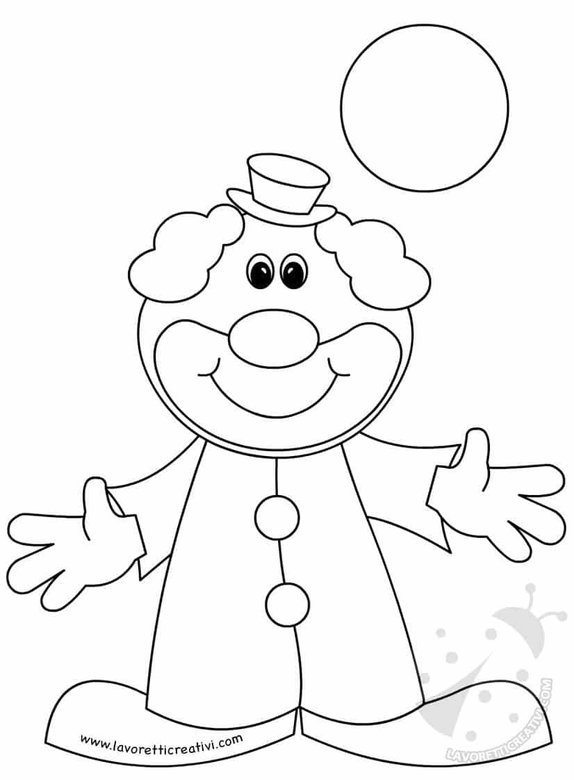 Addobbi e decorazioni di carnevale festone con pagliacci for Immagini di clown da colorare