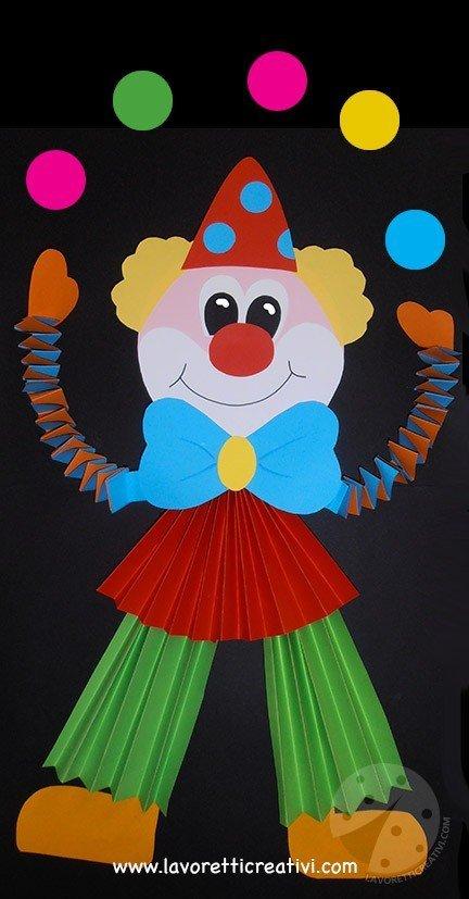 Idee per creare addobbi di carnevale pagliaccio giocoliere for Addobbare la porta dell aula