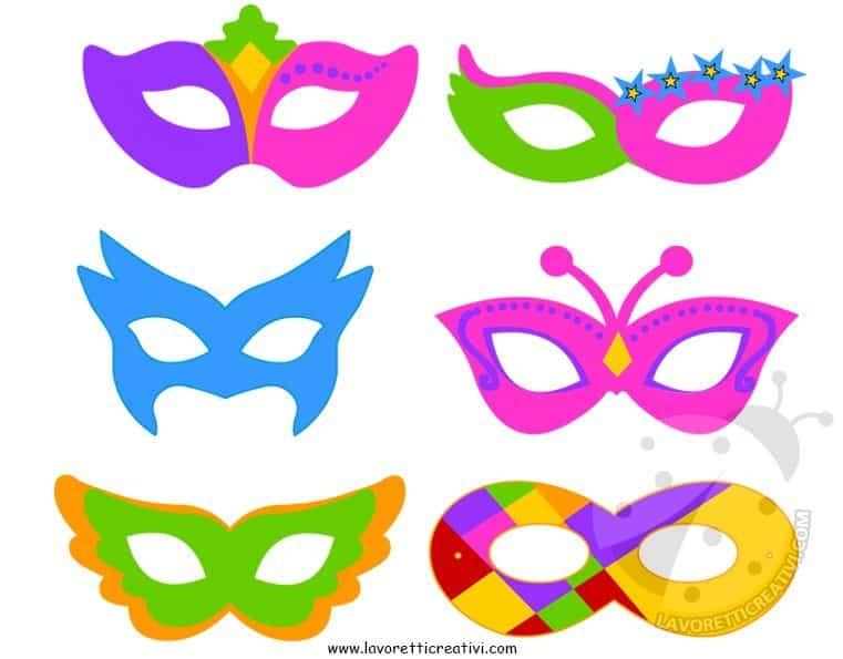 maschere da stampare