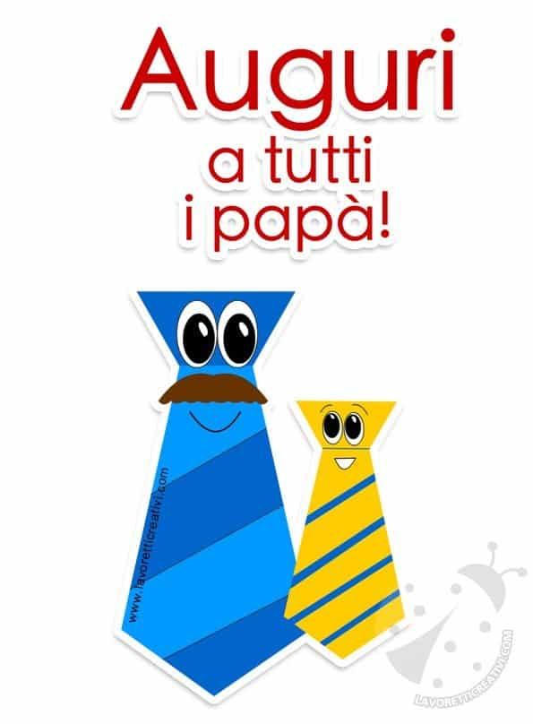Auguri Festa Del Papà Immagini Da Stampare Lavoretti Creativi