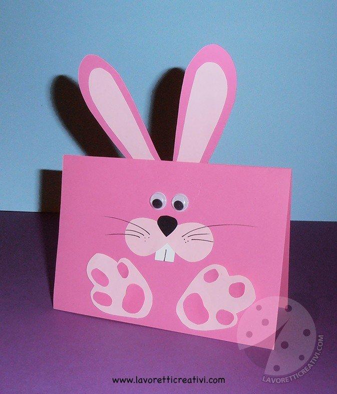 Biglietti di auguri di Pasqua con cartoncini colorati