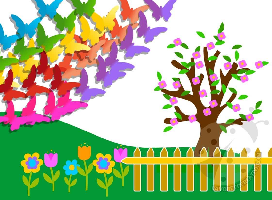 Cartellone sulla primavera scuola primaria