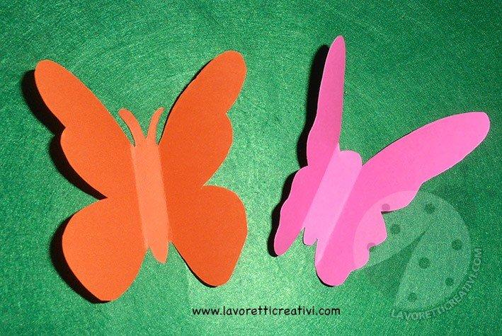Decorazioni scuola Cartellone con farfalle 3D