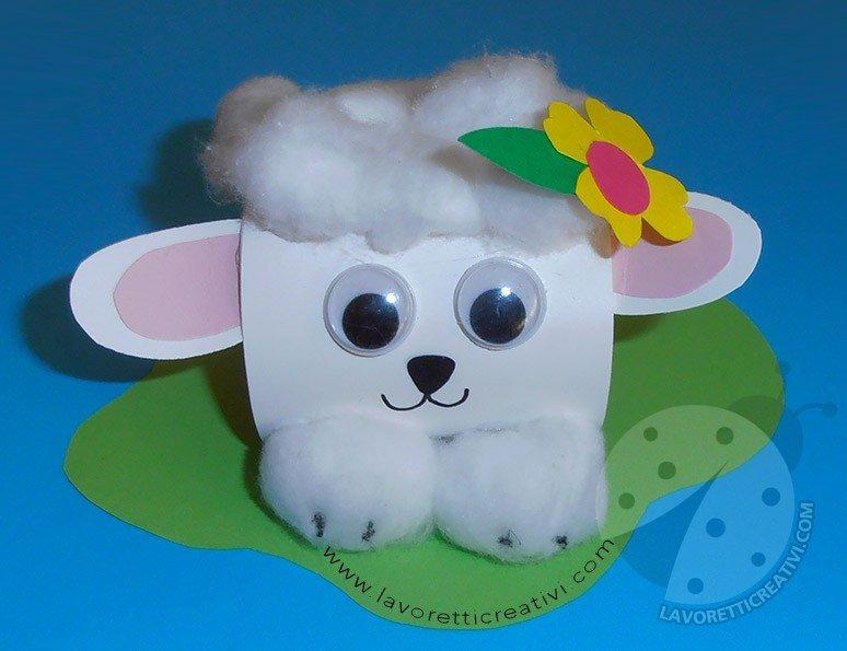 Lavoretti per bambini pecorella pasquale con ovetto for Youtube lavoretti per bambini