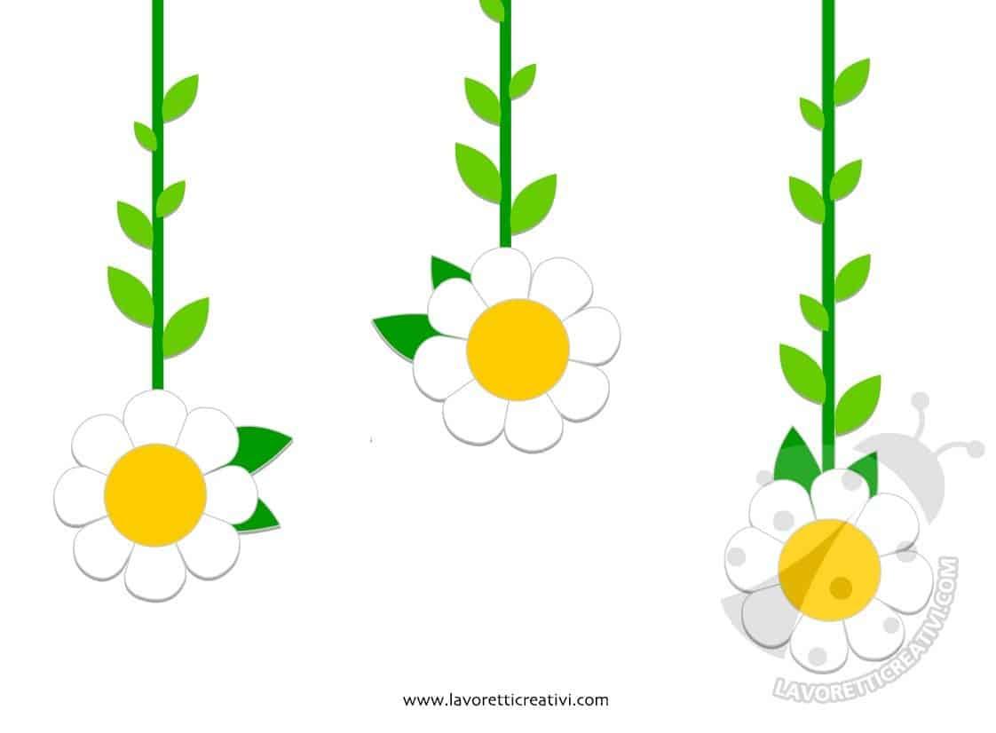 Decorazioni primaverili da appendere con fiori lavoretti creativi - Decorazioni primaverili per finestre ...