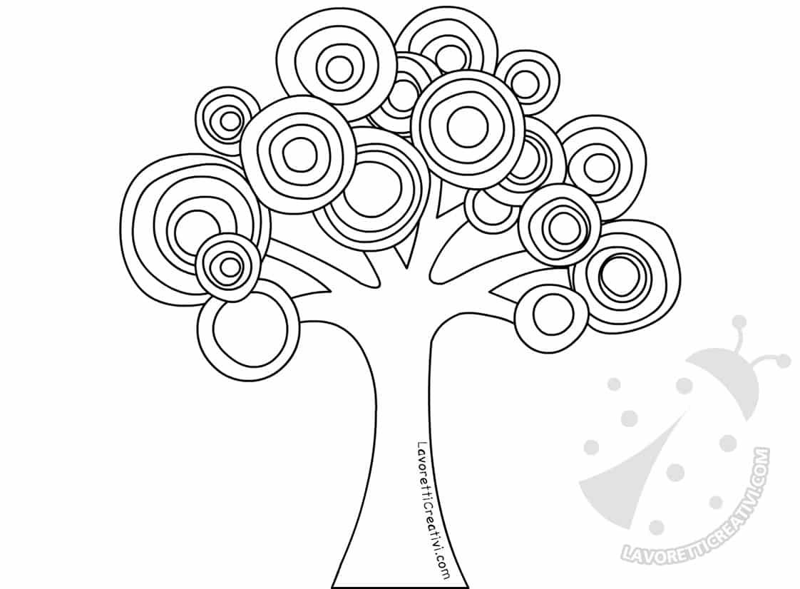 Astrattismo Albero con cerchi colorati