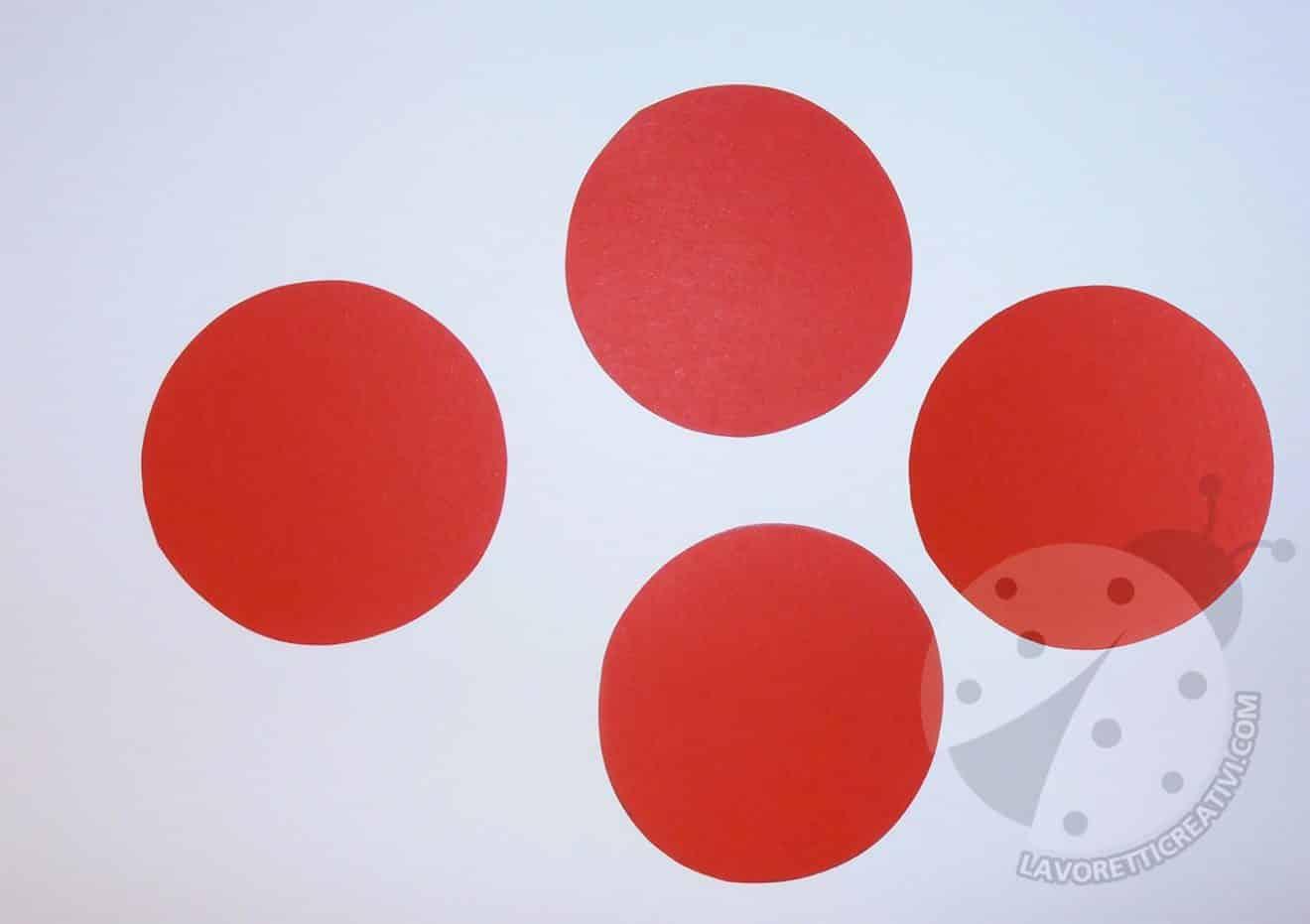 Coccinelle 3d Con Cerchi Di Carta Colorata Lavoretti Creativi