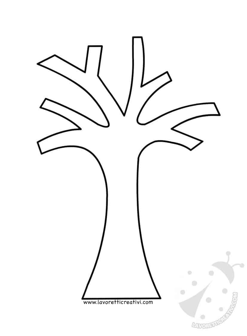 Astrattismo albero con cerchi colorati lavoretti creativi for Foto di alberi da colorare