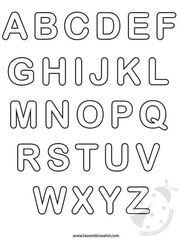 alfabeto italiano completo