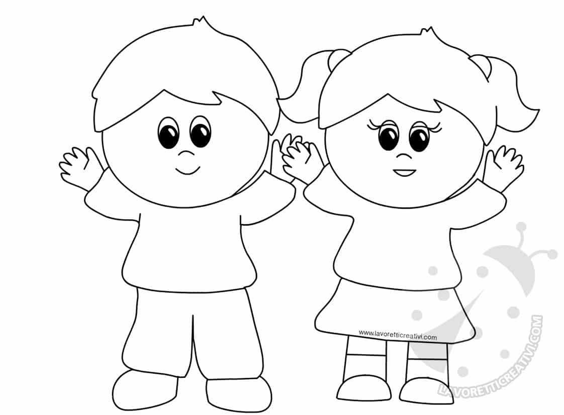 Immagini di bambini che salutano scuola infanzia lavoretti for Lepre immagini da stampare