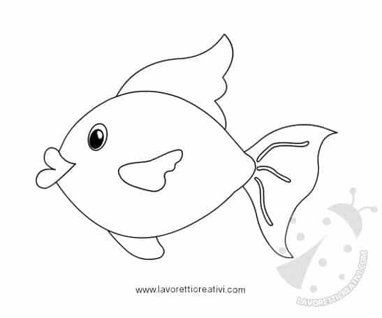 Sagome acquario con pesce rosso lavoretti creativi for Pesci da stampare e colorare