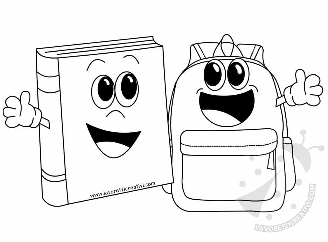Accoglienza scuola Immagine di libro con zaino