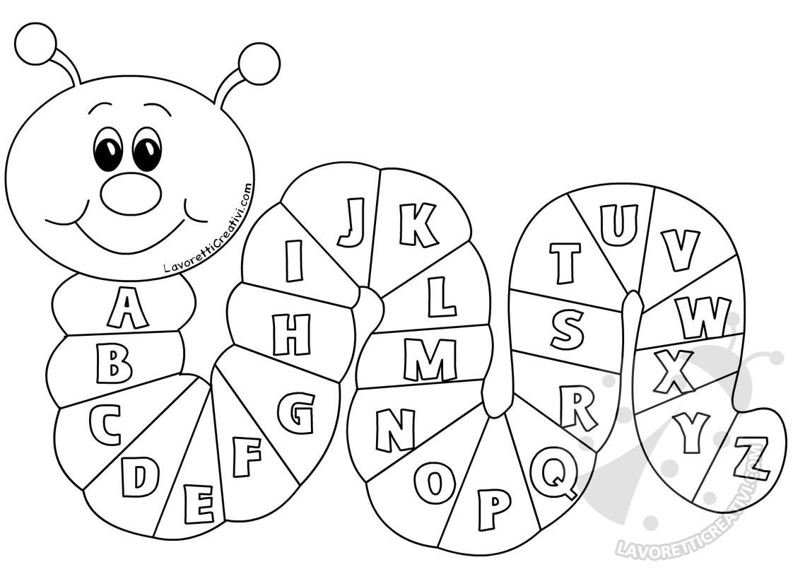 Cartellone Per La Scuola Bruco Con Le Lettere Dell Alfabeto Lavoretti Creativi