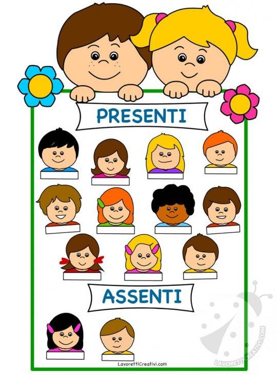 Costruire Calendario Scuola Infanzia.Cartellone Delle Presenze Per I Bambini Della Scuola Dell