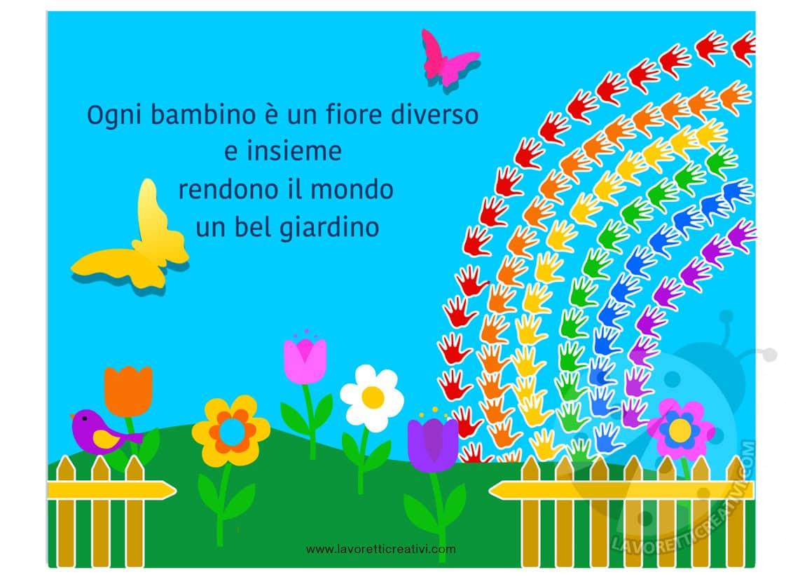 Cartelloni scuola primaria e dell 39 infanzia giardino con for Cartelloni di natale per la scuola dell infanzia
