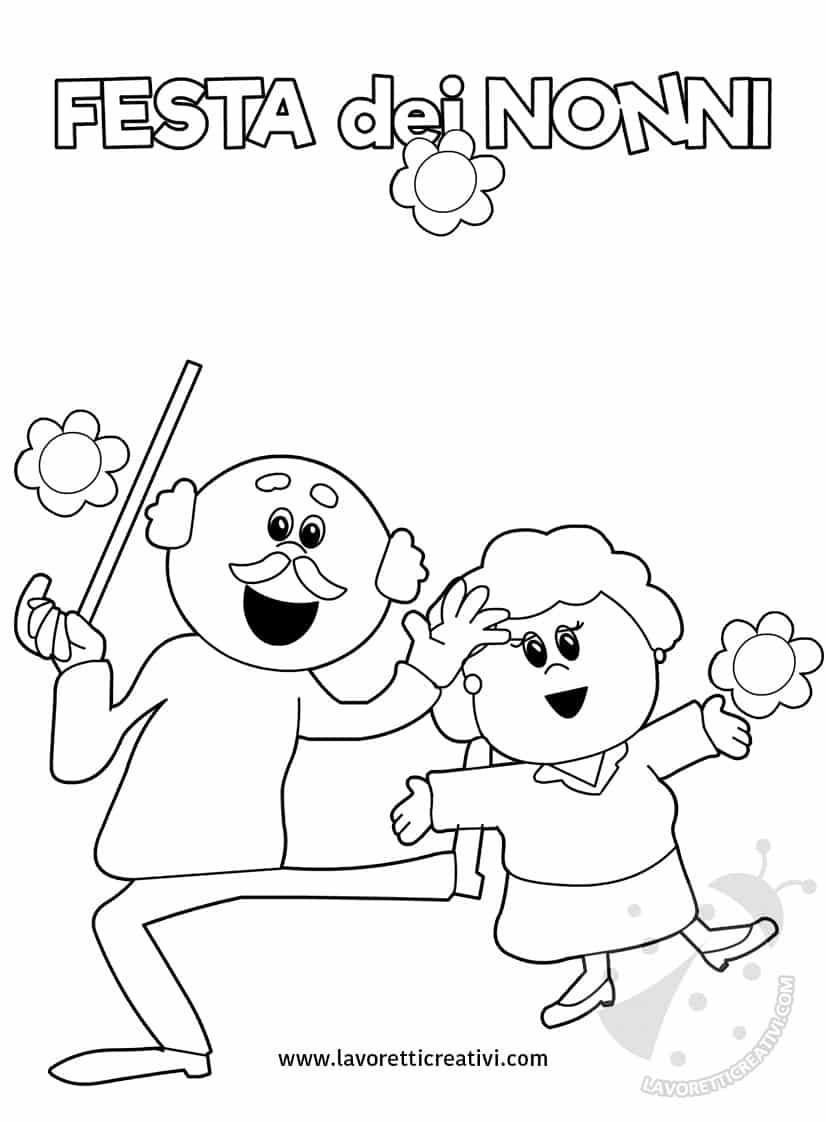 Festa dei nonni immagini da stampare lavoretti creativi - Immagini da colorare di rose ...