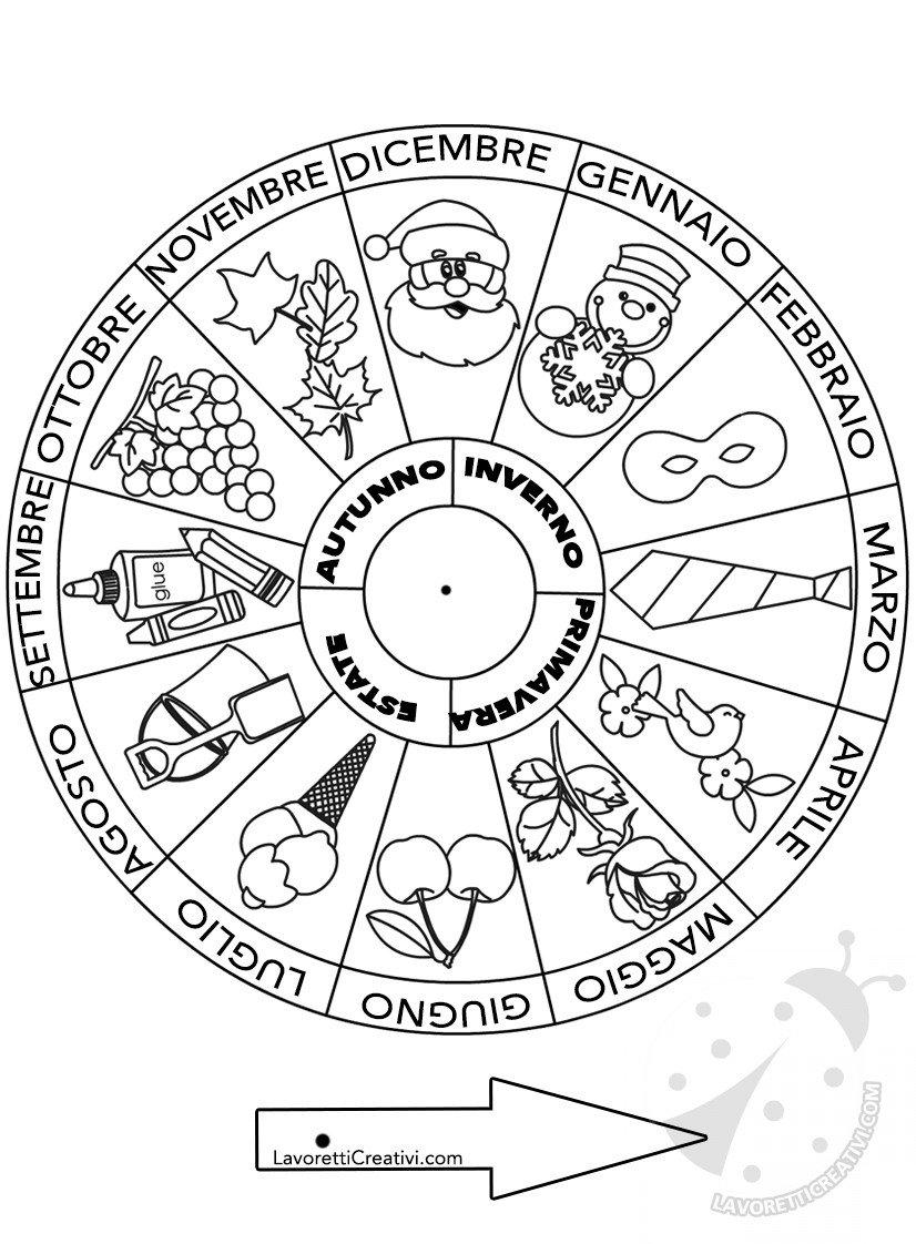 Simboli Dei Mesi Dellanno Da Colorare