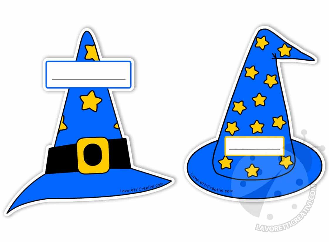 Targhette portanome Scuola Infanzia Cappello da mago