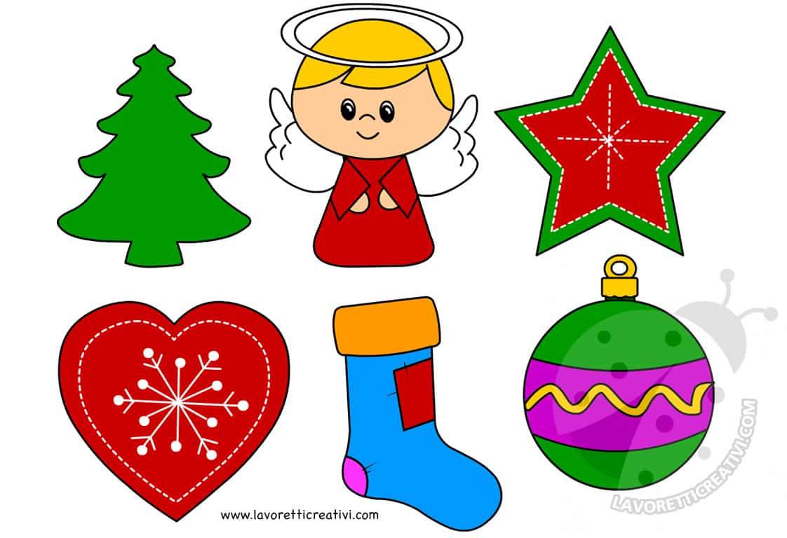 Decorazioni natalizie in pannolenci per albero lavoretti for Addobbi di natale per bambini scuola infanzia