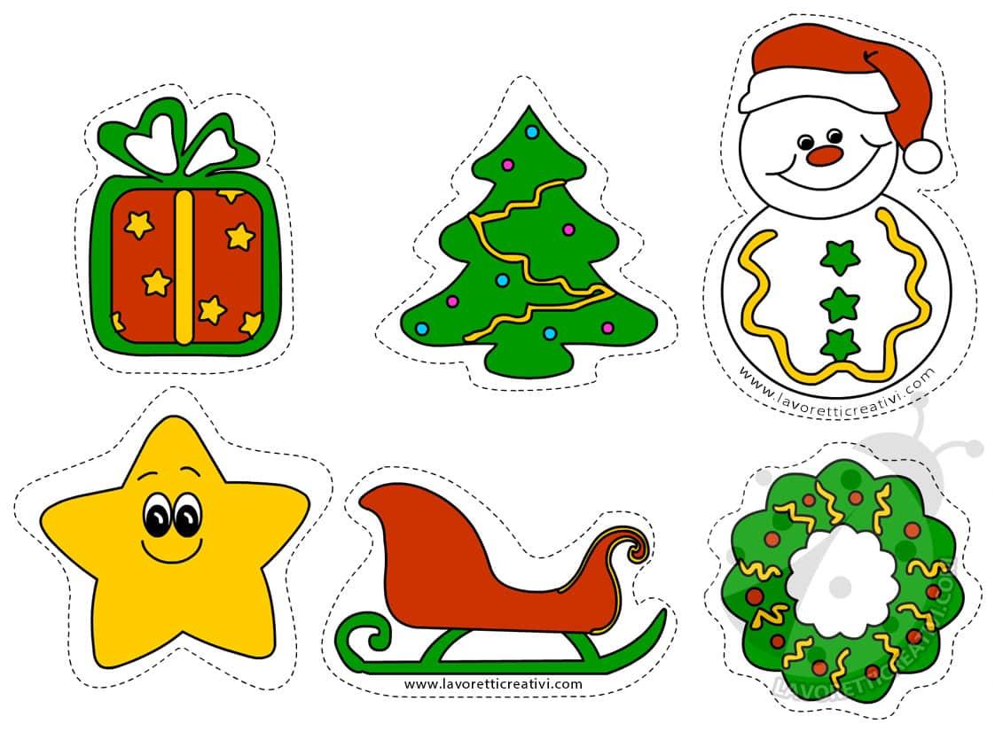 Figure natalizie da ritagliare per addobbi